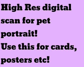Digital scan of your pet portrait for greeting cards, prints, etc!