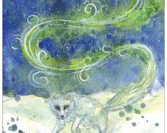 Revontulet, Northern Lights original watercolour