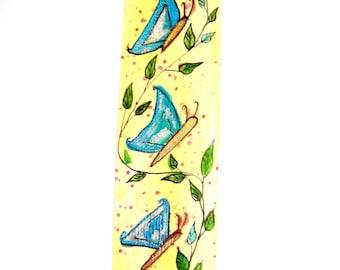 """Bookmark handmade drawing """"Butterflies""""."""