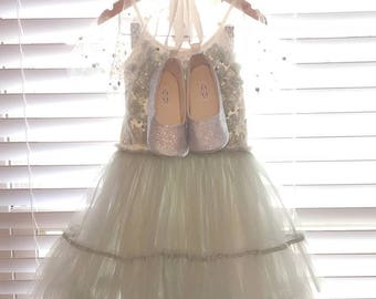 Toddler Girl Shoes Baby Girl Shoes Soft Soled Shoes Wedding Shoes Gold Flower Girl Shoes Silver Glitter Shoes Black Ballerina Shoes - Eloise