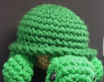 Turtle crochet green plush amigurumi
