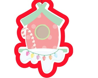 Christmas birdhouse cutter