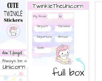A311 | flight tracker planner stickers, full box stickers, full boxes stickers, flight stickers, travel stickers, holiday stickers