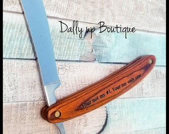 Strait-Razor - custom engraving - anniversary gift - father's day - gift for grandpa - Dad - Son - Brother - gift for him - Birthday- Beard