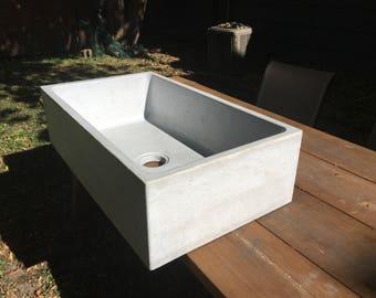 how to make a concrete farmhouse sink