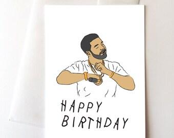 Drake Dancing Happy Birthday Card