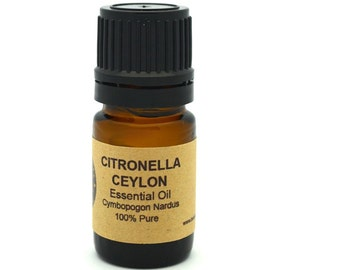 Citronella Essential Oil (Ceylon) 5ml, 10 ml or 15 ml