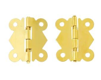 20 hinges, 3.2 x 2.7 cm, gold