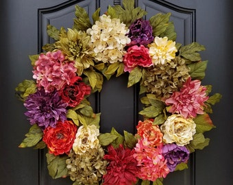 WREATHS, Front Door Wreaths, Summer Door Wreaths, Beauty of Summer, Most Beautiful Wreaths, Wreaths of Beauty, Colorful Wreath