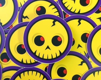 80s Saturday Morning – SimpleSkull – 3 in. x 3 in. – Printed Vinyl Sticker