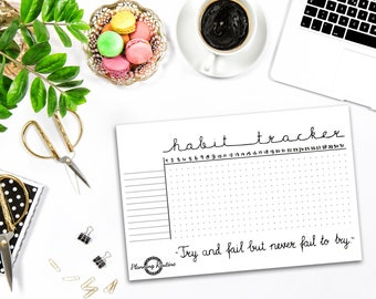 Habit Tracker Stickers, Daily Habits Stickers, Planner Stickers