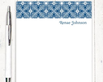 personalized notePAD - REGAL RENAE - stationery - fancy stationary - letter writing paper - elegant paper - choose ink color