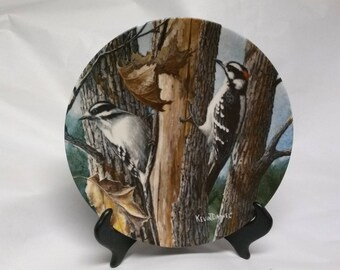 "Collectors Plate ""The Downy Woodpecker"""