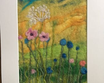 Summer meadow flowers needlefelted  picture