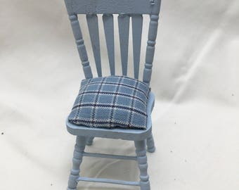 Dolls House Miniatures - Light Blue Chair