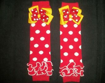 """Minnie mouse legwarmers, """"Classic Minnie"""""""