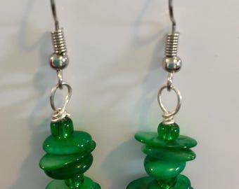 Green Seas earrings