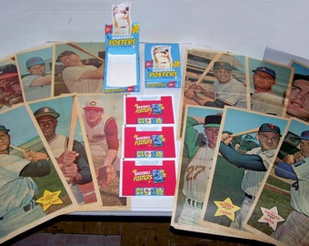 1968 Topps Baseball ORIGINAL SET 24 POSTERS in 24 reproduction wrappers with replica display box
