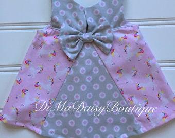 Baby Unicorn Dress, Baby Girl Dress, Baby Party Dress, Toddler Dress, Girl Sundress, Girl Birthday Dress, Newborn Dress, Infant Dress