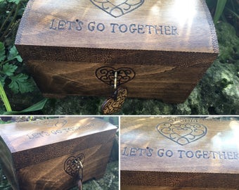 Legend of Zelda inspired chest, lockable keepsake box, zelda fan, ocarina of time, gift for gamer