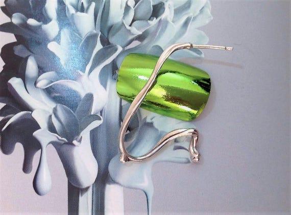 large hoop earring, unique | single earring | statement earring | arty jewelry