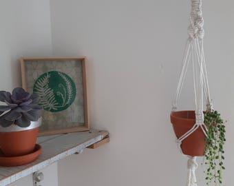 Macrame plant hanger | succulent plant hanger | hanging planter | plant pot holder | rustic | boho | Scandi | minimal