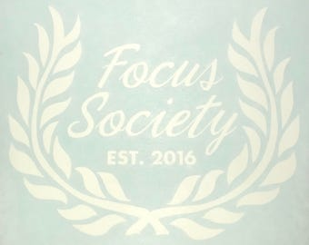 3x3 Focus Society Decals