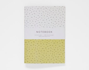 THE CLAUDETTE notebook / blank notebook / yellow notebook / geometric notebook / sketchbook