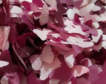 Burgundy & Pink butterfly confetti party and table decor confetti-Wedding / Birthday / Baby showers