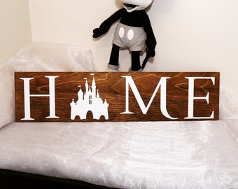Disney Home Sign, Home Sign, Disney Sign, We Do Disney, Home Decor, Wall Decor, Sign, Disney, Mickey Castle, Disney Castle, Mickey Sign
