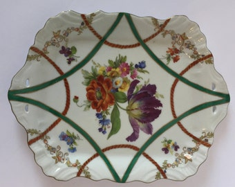 Elios Hand Painted Floral Porcelain Tray
