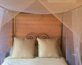 4 Poster Polyester bed canopy moqutio net 3 openings you dont need a 4 & Luxurious 100% cotton bed canopy mosquito net central hook