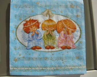 set of 2 napkins the sweetness of angels!