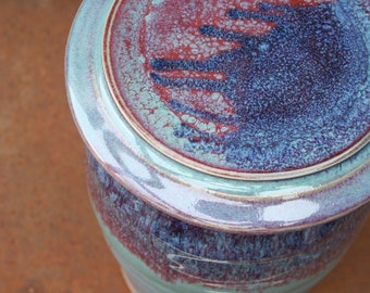 2 Qt Ceramic Fermentation Crock in 'patina' - DIY ferment your own sauerkraut and kimchi in this handmade pottery crock; weight included.