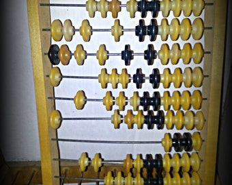 Large Vintage Russian USSR Soviet Wooden Counting Abacus, counting frame, Huge