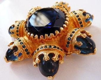 vintage Benedikt NY brooch pin pendant | ornate baroque | Renaissance Revival Byzantine | designer signed vintage rare seven continents