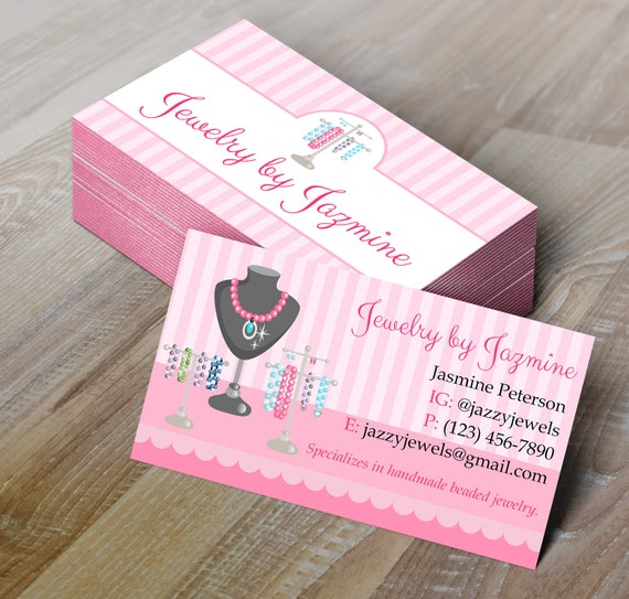 Diy do it yourself jewelry making business card editable colourmoves