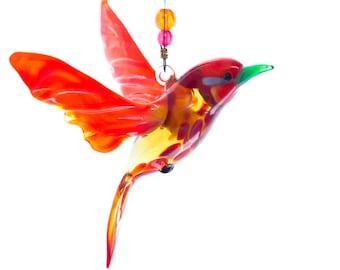 Lampwork Cardinal Figurine - Great Birthday Present and Home Decor Decoration - Lovely Window Suncatcher
