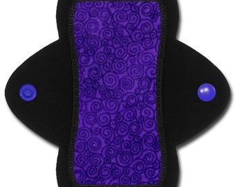 "Reusable Pantyliner (6 inch Light- ""Wisteria"" Purple Flannel)"
