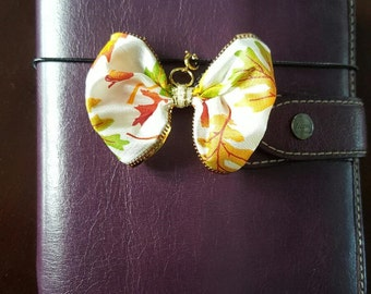 Fall Leaves Bow Planner Clip/Charm