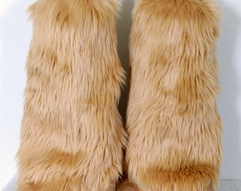 Sandy Monster Leg Warmers / Fluffies / Boot Covers - Cosplay / Furry / Animal / Rave