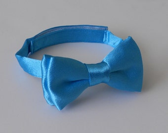 Satin Turquoise Bowtie-Infant, Toddler, Boy                             2 weeks before shipping