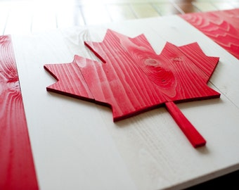 Canadian Wood Flag, Canada Wood Flag, Canada Flag, Canadian, Patriotic, 3D, Wooden Flag, Canada, vintage, wall art, maple leaf, home decor