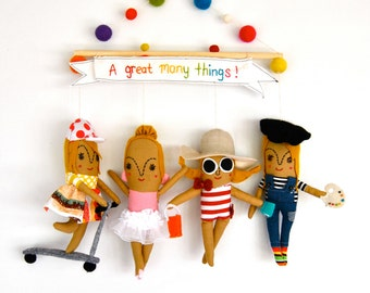 A Birthday Present ---  Wall Hanging ---  Personalized dolls ---  Made to Order