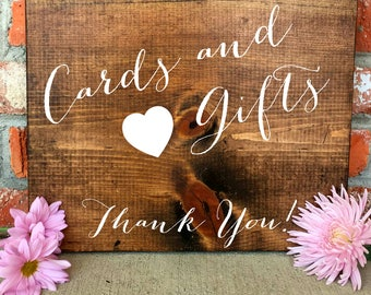 Cards and Gifts Sign, Cards and Gifts, Wedding Signs, Rustic Wedding Decor, Rustic Wedding Signs, RustiC Wedding, Wooden Wedding Signs