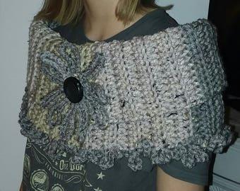 Crochet Cowl Capelet Scarf Caron Sprinkle Cakes