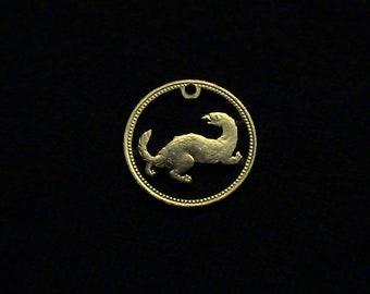 MALTA - Cut Coin Pendant - Ferret or Weasel