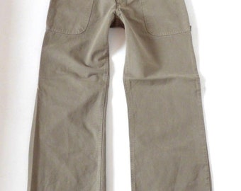 Men's Vintage CINQUE MONZA Zip Fly Utility Khaki Cotton Pants Size W31 L29 / New