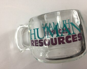 Human Resources Mug Clear Cup USA Made Double Sided Gift Coffee Tea Drink