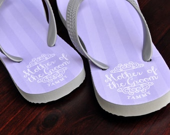 Custom Flip Flops, Mother of the Groom, Bridal Flip Flops, Custom Wedding Flip Flops, Wedding Flip Flop, Flip Flops, Custom, Name Sandals